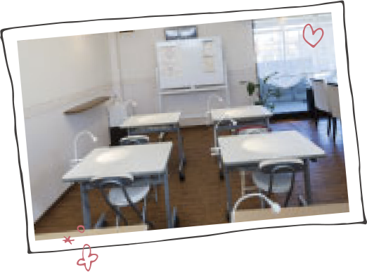 ルキナネイルスクールの教室